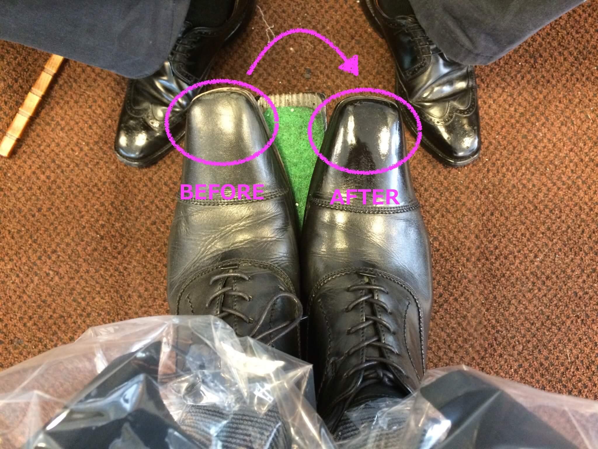 【千葉スペシャル】1100円で驚くほどピッカピカになる有楽町の靴磨き