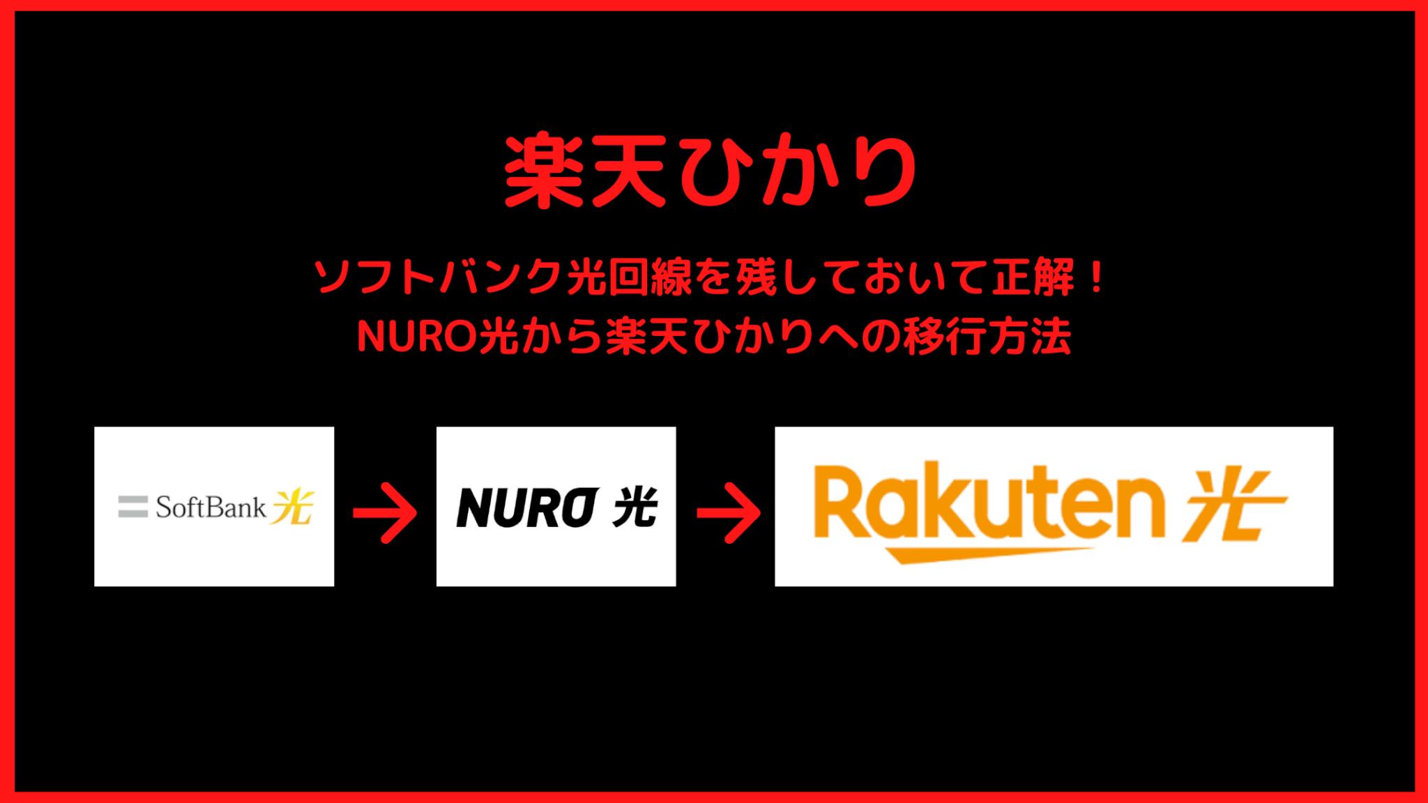 【簡単】NURO光から楽天ひかりへの乗り換え方法6個:私の実績を公開
